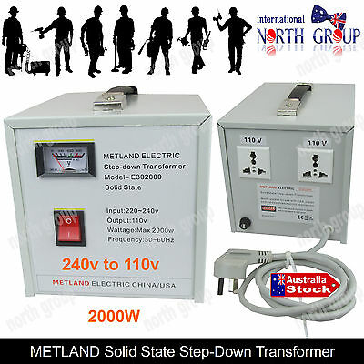 2000W Step Down Transformer Regulator 240V-110V AU-US Voltage Converter