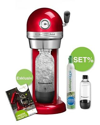 KitchenAid Artisan Wassersprudler Sodastream Set - Candy Apple rot inkl. Magazin
