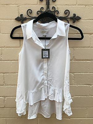Witchery Girl -  BNWT - White Summer Blouse - Size 10.