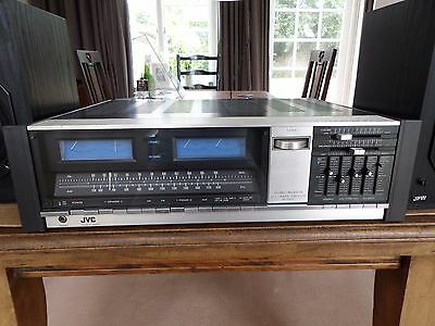 JVC JR-S400 vintage tuner, amplifier with phono input. Huge with retro look!