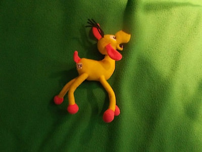 Yellow soft horse, from 2000, approx 18cm long