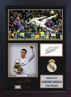 Cristiano Ronaldo signed autograph Real Madrid star Memorabilia With Frame 00200