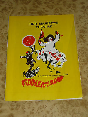 1968 Fiddler On The Roof Brisbane theatre programme 60s Gordon RARE Vintage Ads