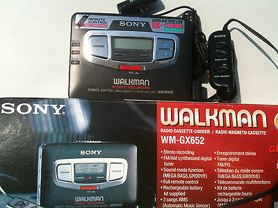 Sony WM-GX652 Walkman Radio Cassette-Corder/Player NEW !NEU!in box remote Japan