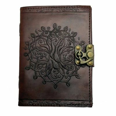 Brown Tree of Life Mandala Leather Journal - Writing Notebook, Diary & Sketchpad
