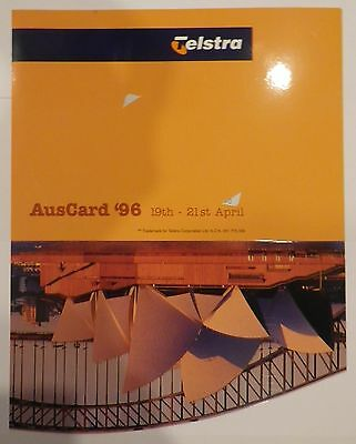 1996 Telstra $5 Auscard Opera House at Dusk Phonecard with folder MINT