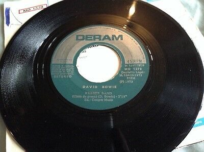 """David Bowie Laughing Gnome / Rubber Band Rare Spain 7"""" Single P/S"""