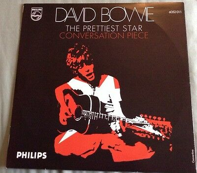 David Bowie Prettiest Star/Conversation Piece, Rare Italian Repress, Clear Vinyl