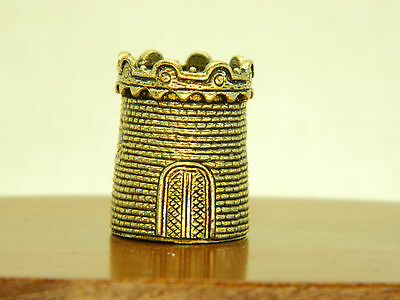 Vintage bras thimble made in 1980 Russian art Dragon Tower