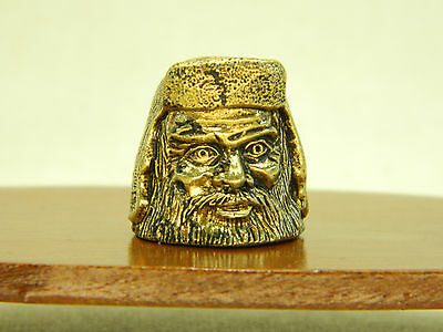 Vintage bras thimble made in 1980 Russian art Mage Radagast