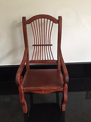 Antique Wood Doll Furniture Chair
