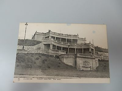 Early Tuck Postcard - Public Shelter - The Hoe - Plymouth Devon