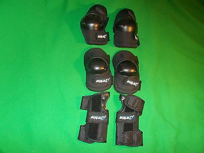 Kids knee elbow wrist pads roller blading skating cycling sport protective M & S