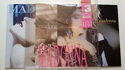 MADONNA First 3 Albums Special Christmas Pack Edition in plastic zipper bag RARE