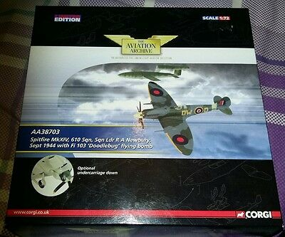 AA38703 CORGI Aviation Archive Spitfire MKXIV No.610 Sqn RAF with Flying Bomb