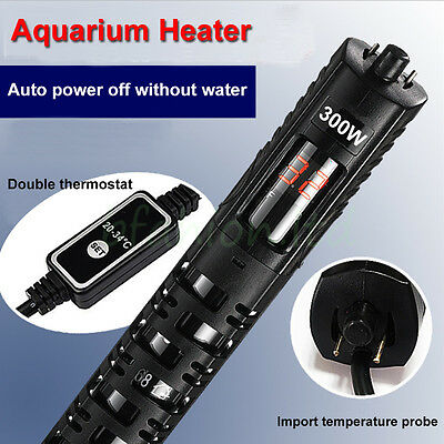 Digital Submersible Aquarium Heater 50W upto 500W Fish Tank Thermostat - UK Plug