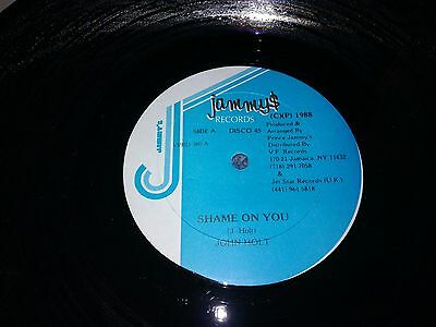"John holt - shame on you -  12""single 1988 vgc+ jamaican import"