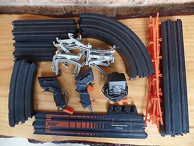 AFX Aurora Track Bundle Slot Car Track Bulk Lot - Banked Curve, Controllers.