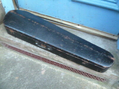 "vintage wooden violin fiddle case 32"" long hinged lid"