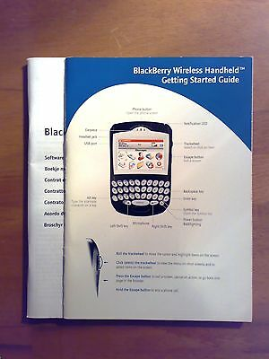 Blackberry Wireless Handheld Getting Started Guide & Software License Agreement