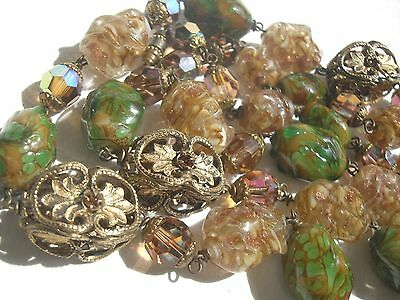 Ancien Et Tres Beau Collier De Perles Murano Vintage Old Necklace