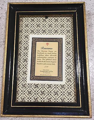 "Cavallini & Co. Italian Photograph Frame 4""6 Gold Leaf Detail Ravenna"