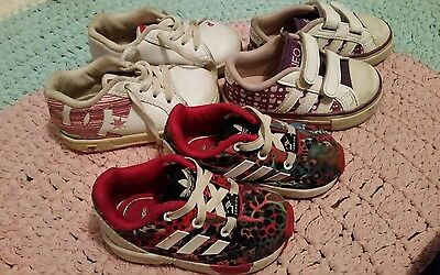 Girls shoes. Adidas and dc size 5 toddler