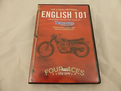 Triumph Motorcycle Service DVD  (unit and pre-unt) and unit BSAs English 101