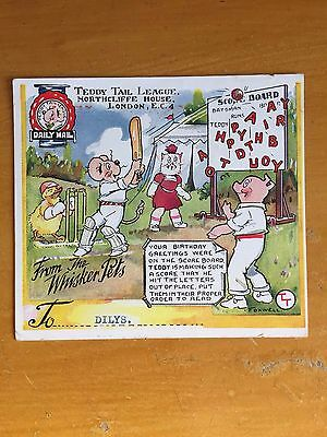 1936 RARE Teddy Tail league Birthday Card by Foxwell of Daily mail