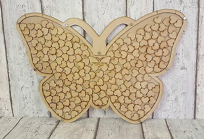 Butterfly, Personalised Wedding Drop Box, Guest Book, Mdf