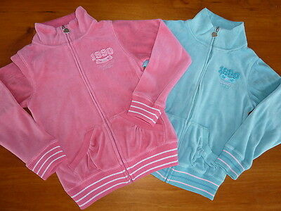 PUMPKIN PATCH 2x Girls Pink & Blue Veloour Hoodies, Jackets Size 7