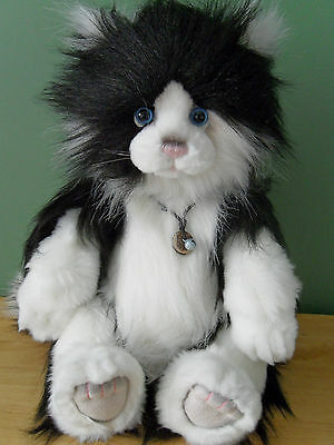 """Charlie Bears ALLEY *NEW* 18"""" Plush Cat QVC Exclusive"""
