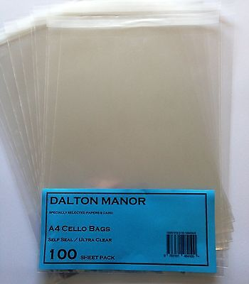 A4 - 40mic CELLO BAGS - 2000 / 4000 - HIGH QUALITY DALTON MANOR BRAND WHOLESALE