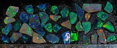 77.00 Carats Of Solid Gem Quality Lightning Ridge Rubbed Opal Parcel