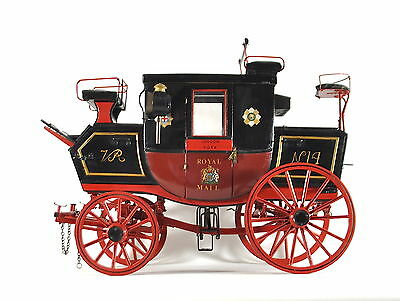 Royal Mail Coach Horse Drawn Victorian King Of The Road Large Model