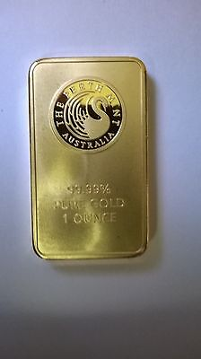 Pert Mint Bullion Bar  Gold  Layered 1 Ounce