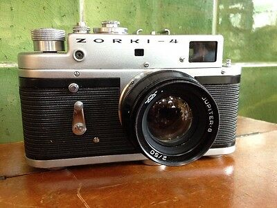 vintage film camera zorki-4 Russian 35mm film rare