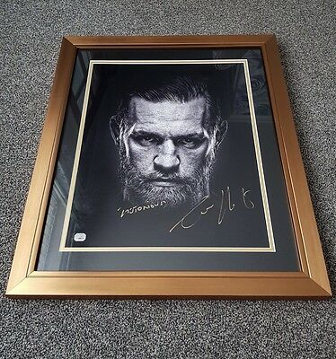 Conor McGregor Signed Picture In Frame