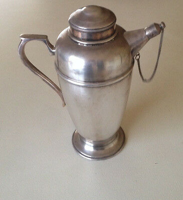 Art Deco Australian Silver Plated Genie Coffee - Tea Pot With Chain Spout