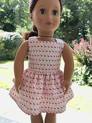 18 inch doll clothes - Flamingo Dress to fit Our Generation Doll