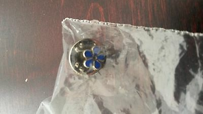 Masonic forget me not tie pin