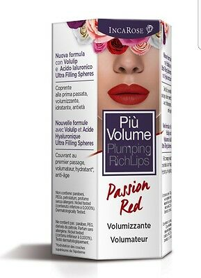 Più Volume plumping rich lips Incarose 04 passion red