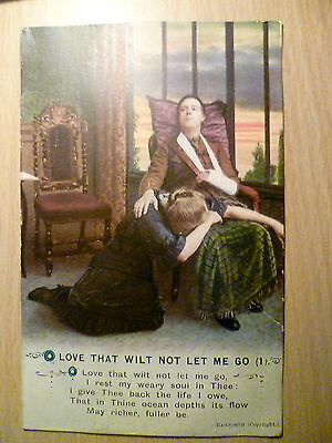 Song Postcard Bamforth: Love That Wilt not Let Me Go (1) WW1 Period postcard