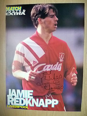 Original Hand Signed Press Cutting- JAMIE REDKNAPP, Liverpool FC (apx A4 ).