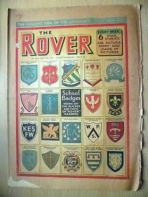Comic-THE ROVER, No.1514,  3 July 1954;A NEW STORY of the LIFEBOATMEN of BRITAIN