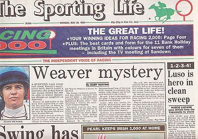 The Sporting Life Newspaper - Monday May 29, 1995