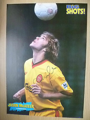 Original Hand Signed Press Cutting- JASON McATEER, Liverpool FC (Size apx. A4 )