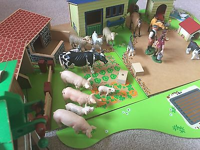 ELC Wooden Farm set with Lots Of Animals