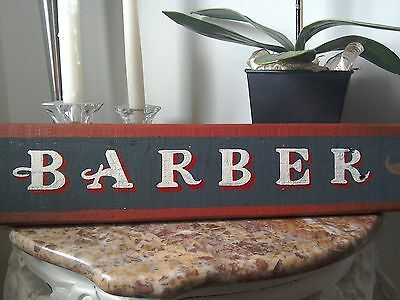 hand painted barber shop sign