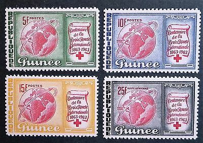Guinea Republic (1963) Red Cross Centenary / Medical / Globes Maps - Mint (MNH)